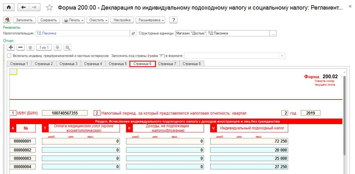 Приложение 200.02 ИПН нерезидентов РК